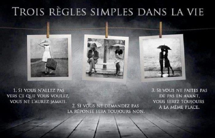 3 Règles simples dans la vie