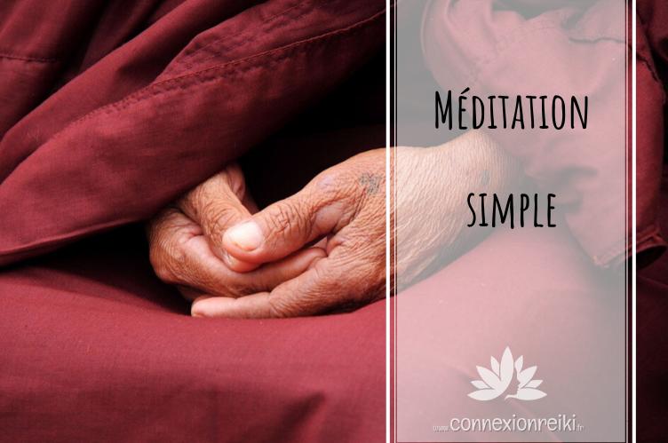 Méditation simple